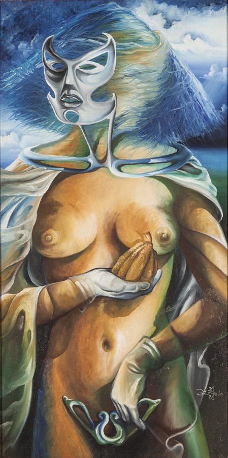 """SÉRIE """"FEMININO"""", 1982, (acrílico sobre tela) – 1,00 x 50"""