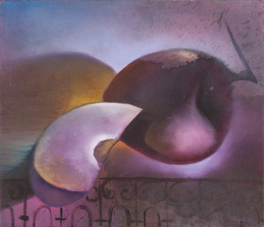 """SÉRIE """"FRUTAS"""", sem data, (acrílico sobre tela) – 70 x 60"""