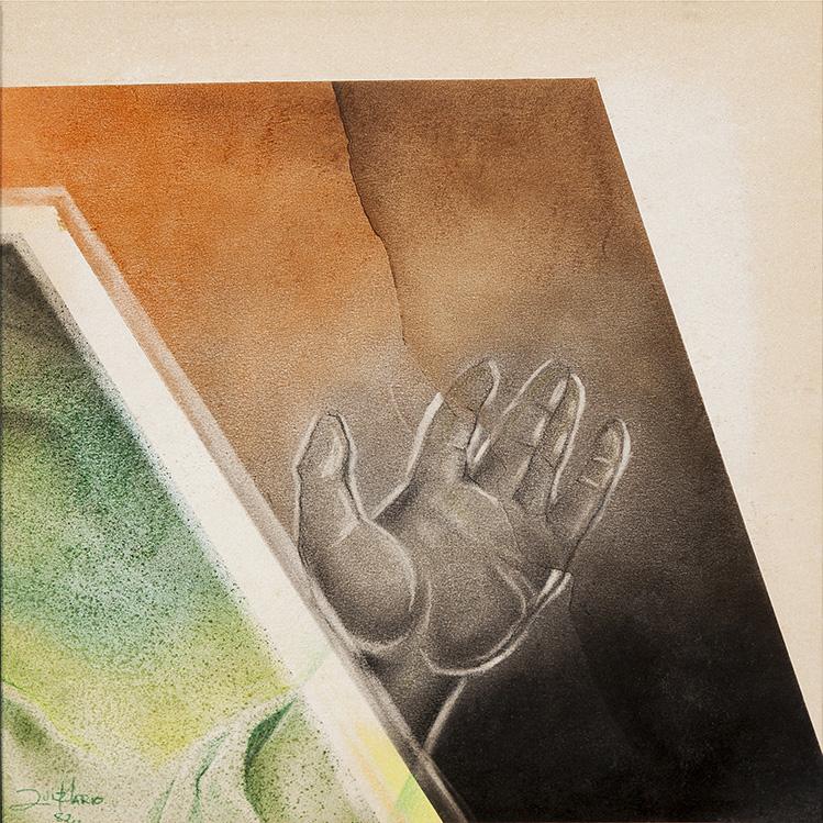 """SÉRIE """"PINTURA SOBRE PAPEL – MO"""", 1982 - tamanho 38 x 34"""