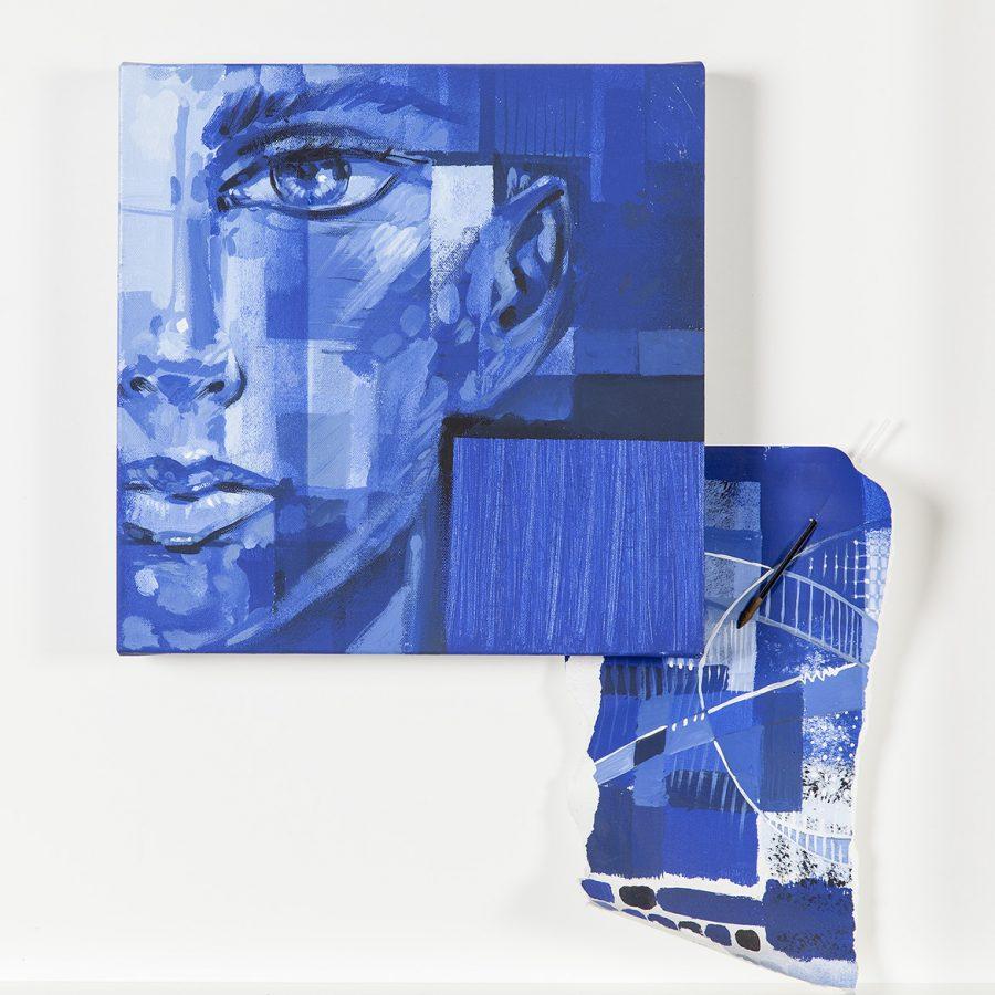 SÉRIE AZUL, sem data, (acrílico sobre tela) - tamanho 30 x 30