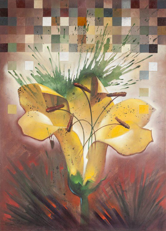 SÉRIE FLORES, 2002 (óleo sobre tela) tamanho 1,40 x 1,00