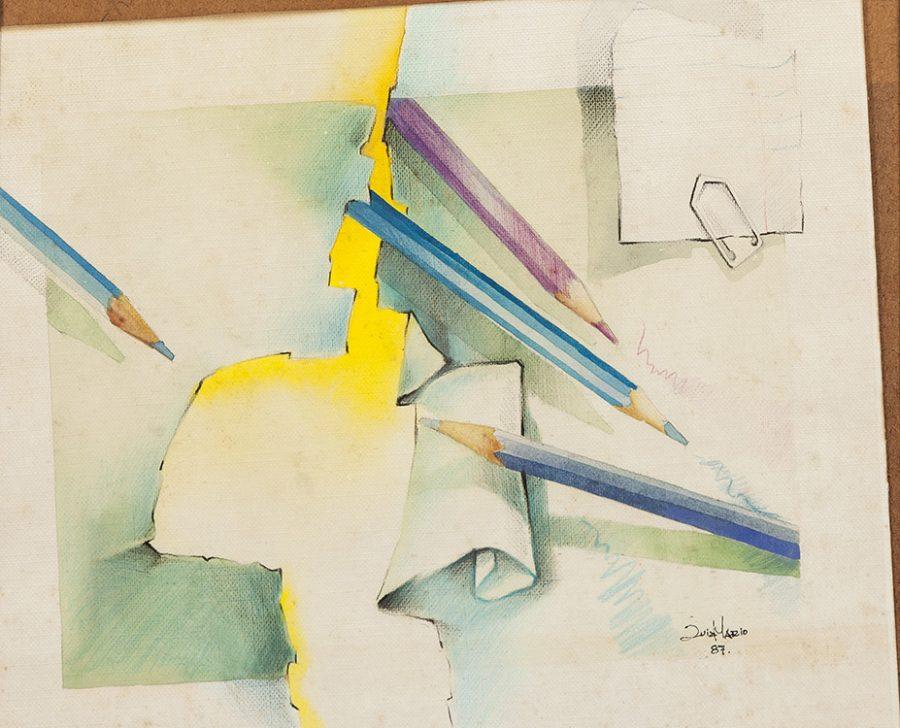SÉRIE PINTURA SOBRE PAPEL – LÁPIS, 1987 – tamanho 30 x 40