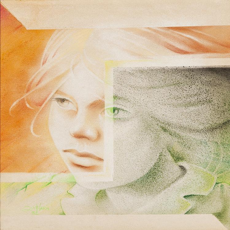 SÉRIE PINTURA SOBRE PAPEL – MO, 1982 - tamanho 38 x 34