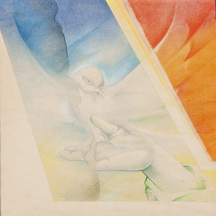 SÉRIE PINTURA SOBRE PAPEL – PÁSSARO, 1982, 38 X 33