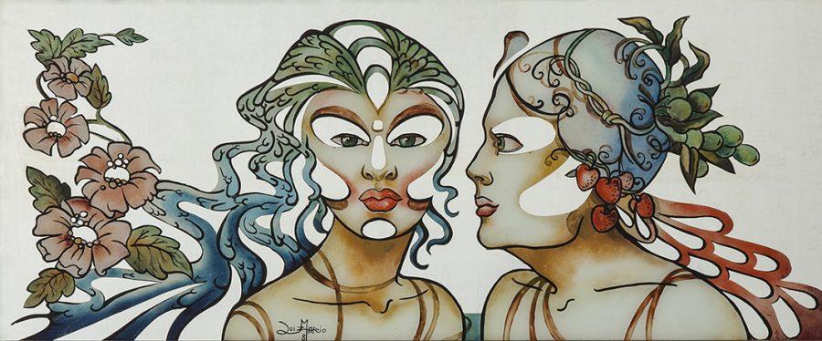 SÉRIE SOBRE ESPELHO, 1981  (pintura sobre espelho) – tamanho 1,00 x 41
