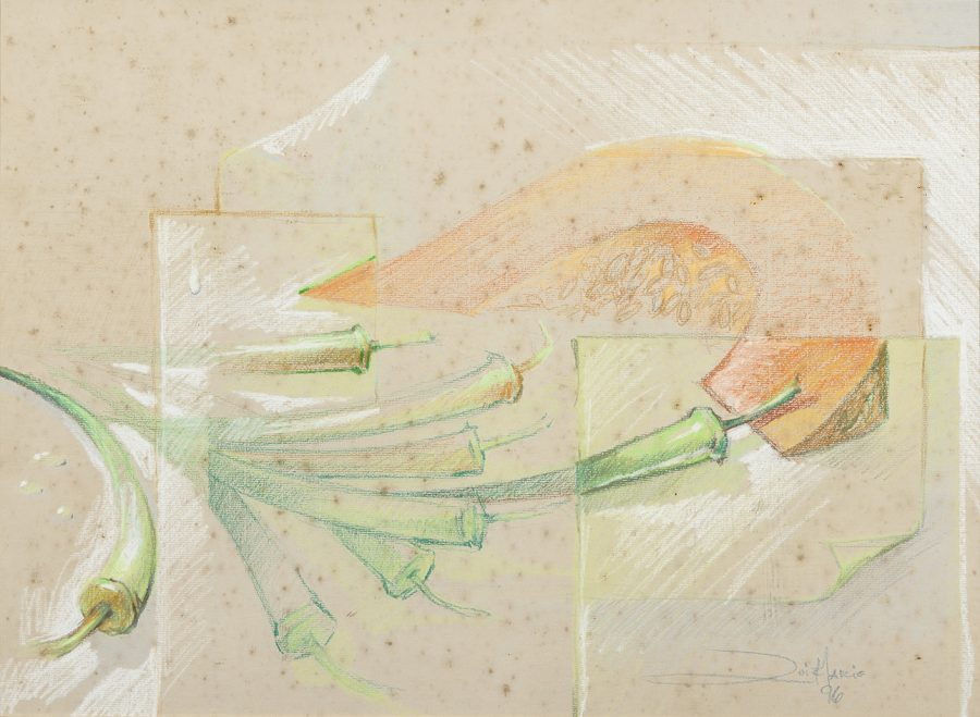 TELA LEGUMES, 1996  (pintura em cartolina) – tamanho 78 x 60
